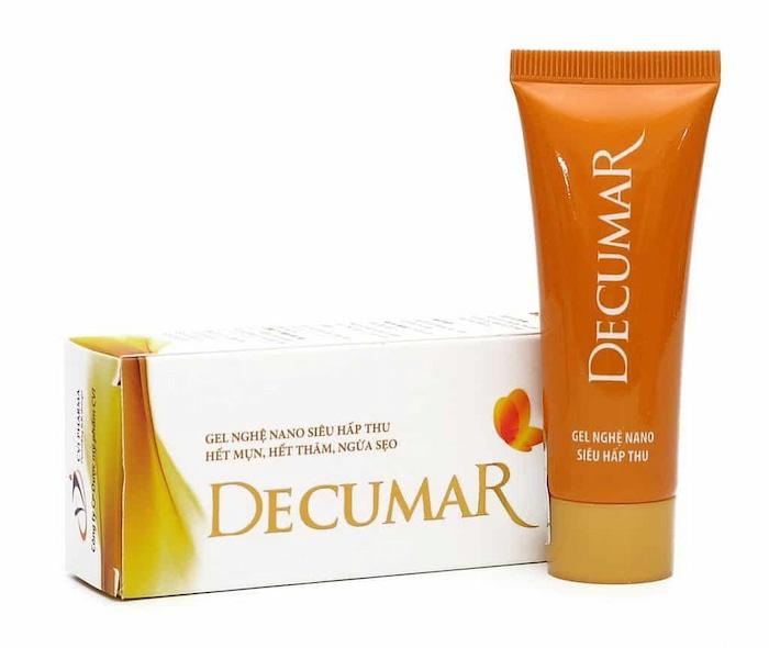 Kem Decumar trị mụn ẩn dưới da