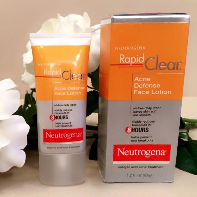 BHA trị mụn đầu đen - Neutrogena Rapid Clear Acne Defense Face Lotion