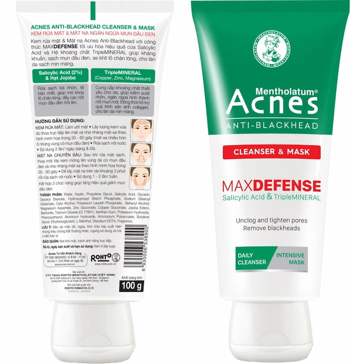 Sữa rửa mặt trị mụn đầu đen cho nữ Acnes