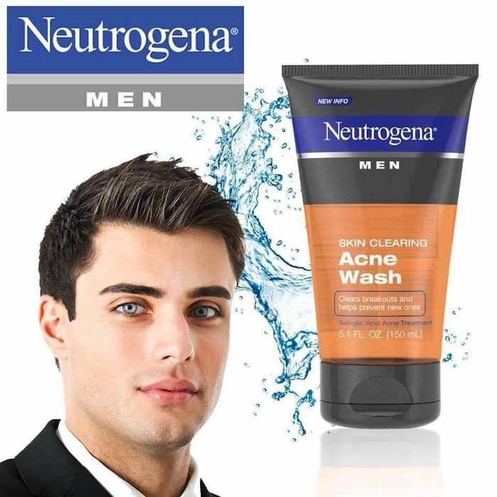 Sữa rửa mặt trị mụn đầu đen cho nam Neutrogena