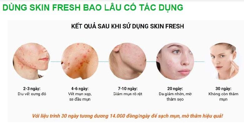 Xịt lợi khuẩn Skin Fresh dùng bao lâu thì có tác dụng?
